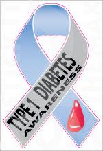 Ribbon Diabetes Awareness 1 01 Type 1 Stickit2themax