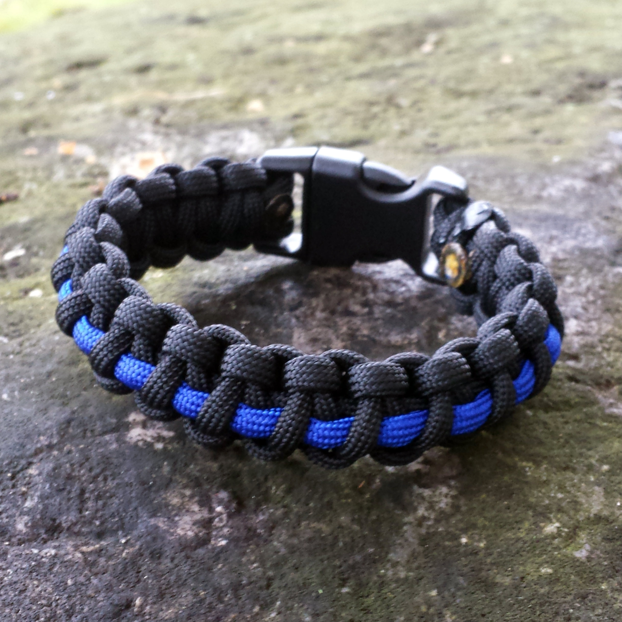 military banner bracelet product tbl army line rubber wristband blue and spangled thin