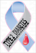 Ribbon Diabetes Awarness 1 1 Type 2 Stickit2themax